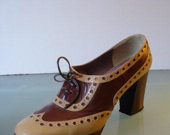 Vintage Enosis Wingtip Platform Shoes