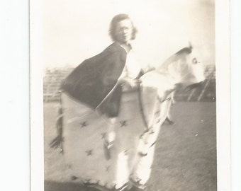Horse Costume - Vintage Photo - Snapshot - Halloween - Collectible - Blurry - Out of Focus Photo