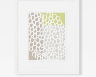 Modern Abstract Art Print - Green Wall Art - 5x7, 8x10, 11x14 - Vertical or Horizontal - Art for Nursery, Living Room, Office, Bedroom