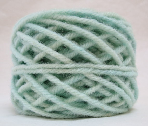 SEA SHELL, 100% Wool, 2 oz 43 yards, 4-Ply, Bulky weight or 3-ply Worsted weight yarn, already wound into cakes, ready to use. Made to order