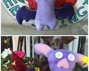 Baby Bat Purple Goth Batsy Medium Plush