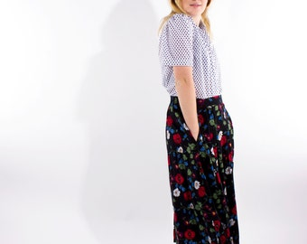 XMAS in JULY SALE : 1990s long floral skirt