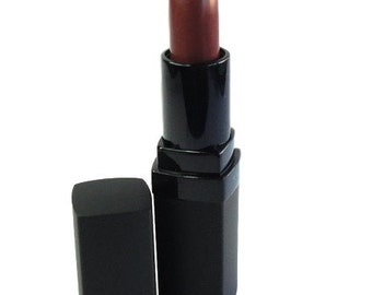 Lipstick Cherry Bomb Red Vegan Paraben Free Mineral Makeup Frosted Pearl