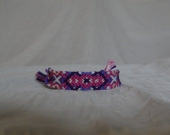 Pink and Purple Friendship Bracelet