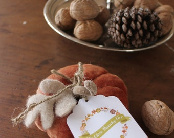 THANKSGIVING Editable Give Thanks Swing Tags - Editable file. Print your own. DIY.