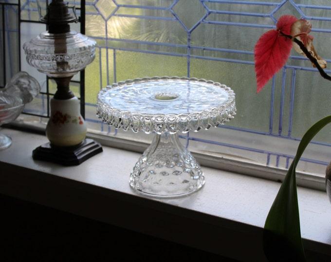 Fostoria American Cake Stand Vintage 1950s Glass