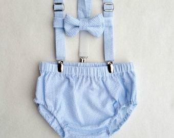 Cake Smash Outfit, Baby Photo Outfit, Picture Set, Baby Boy, Diaper Cover Set, Bow Tie Set, Suspenders Outfit, Newborn Boy Outfit, Baby Prop