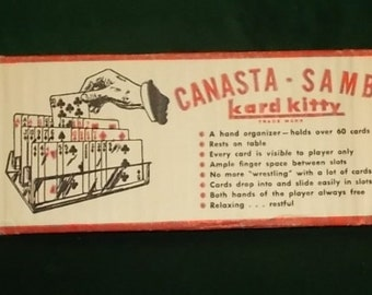 Canasta Samba Card Organizer McClan Associates Kard Kitty Red Playing Card Holder New Old Stock Free Shipping Included