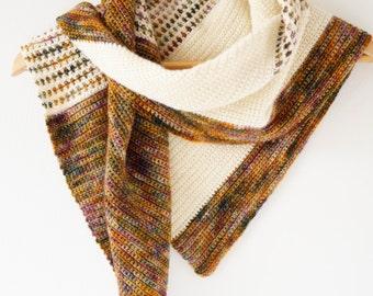 Shawl Pattern, Crochet Scarf, Fall Shawl, Light Weight, Triangle Scarf, Boho Style, Homemade Gift, Merino 4ply Yarn, Soft and Warm