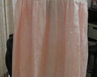 C293)  Antique  Vintage Empire Waist Pink Underdress