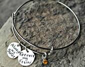 Sister Bracelet - Friend Bangle - Best Friend Bracelet - Sisters Jewelry - BFF Bracelet - Custom Charm Bracelet - Sister Valentine Gift Idea