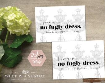 5x7 Will You Be Matron of Honour Card | PRINTABLE DOWNLOAD l Floral Vintage Design | DD005