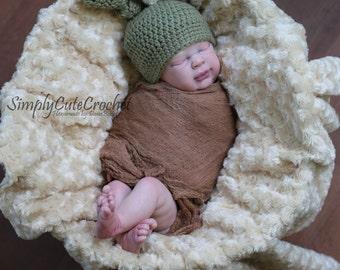 newborn wrap and hat, cheesecloth wrap, newborn hat, army green, photo prop set,  newborn photo prop, baby boy photo prop, ready to ship