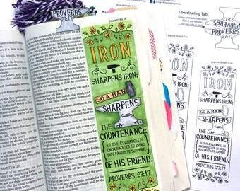 Bible Journaling Bible Verse Art Bible Verse Print great for faith journals Art Iron Sharpens Iron Anvil blacksmith Proverbs 27:17