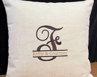 Perosnalized Pillow Monogrammed Pillow Wedding Gift