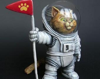 The cat-astronaut