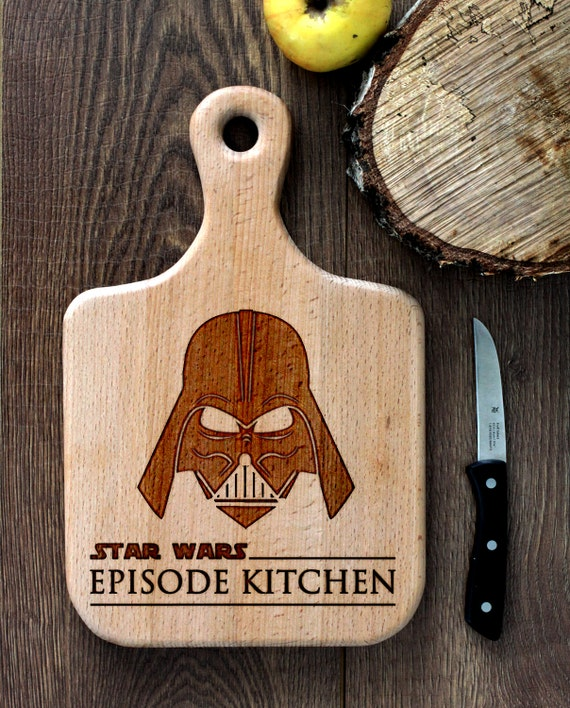 Stars Wars cutting board -  Darth Vader Wooden Cutting Board Laser Engraved - Personalized Engraved Cutting Board