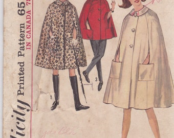 60s Cape Pattern Simplicity 5303 Size 12 - Incomplete