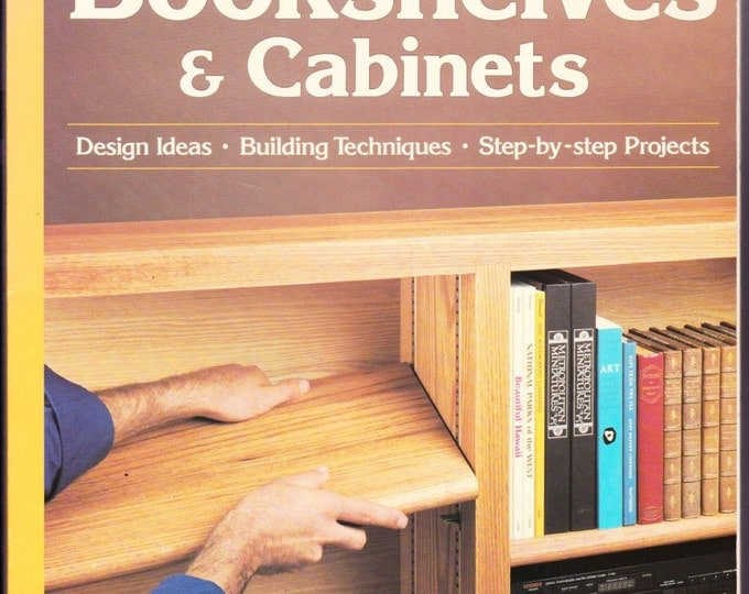 Vintage Sunset Bookshelves And Cabinets ,Paperback, 1994, Wood Crafting, Design Ideas, Tips, Building Techniques, DYI, How To, Cabinets