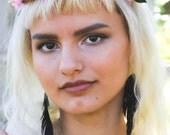 Feather Earrings, Black Feather Earrings, Raven, Black Earrings, Faux Leather, Black Swan, Silver Surgical Steel Hooks