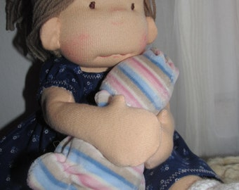 waldorf doll, rag doll, steiner doll ,down payment (50Usd ) ,custom made Bemka doll ,made-to -order