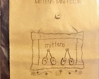 Cross Stitch Pattern: Mittens Mini-Pillow