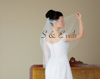 WAIST Length Veil// blusher Veil, wedding and bridal veils, ivory, hot pink diamond white, champagne color, classic veil, accessories