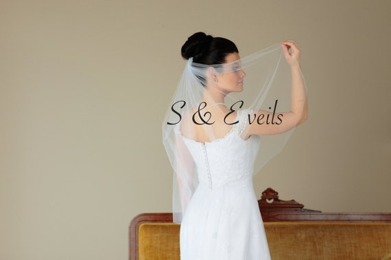Simple wedding veil | blusher Veil, wedding and bridal veils, ivory, short veil, diamond white, champagne color, classic veil, accessories