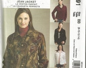 Pattern McCalls #5191  Jean Jacket  Size 8-14  New Uncut