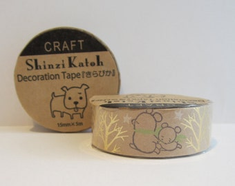 Japanese kraft paper decoration tape - bears by Shinzi Katoh