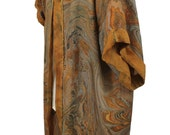 Marbled Silk Duster/Kimono - RESERVED