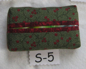 Travel Tissue Pack Covers, Seasonal Fabrics, Includes Tissues & Shipping
