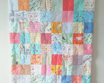 Crib Quilt - Baby Quilt - Toddker Quilt - Modern Crib Quilt - Baby Comforter - Mint Quilt