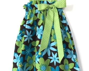 Floral Sundress - Summer Baby Dress - Pillowcase Dress - Cotton Dresses for Babies - Baby Girl Sundress - Hawaiian Dress - Flower Girl Dress