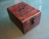 Old Wooden Travel Shaving Box