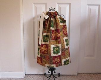 Pillowcase Dress  - Holiday Dress  - Girls 2T  - Fall - Thanksgiving - Christmas -  Ready-to-Ship by Emma Jane Company
