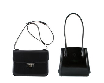 Leather shoulder bag REGINA, Amalia // black (Italian calf leather) - FREE shipping, UNIQUE bag