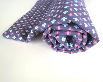 Geometric Baby Blanket || Plus Blanket with Aqua Minky || Pink & Aqua Baby Blanket