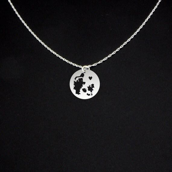 Denmark Necklace Denmark Jewelry Denmark Gift
