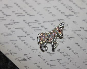Vintage Small Rhinestone Donkey Pin/Brooch
