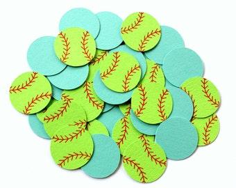 Softball Confetti . Sports Themed Table Confetti . Softball Theme Party Decorations . Softball Decor Confetti . Softball Birthday Confetti