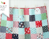 Daysail Baby Quilt Kit - Crib Quilt Kit - Small Lap Quilt Kit - Day Sail - Bonnie and Camille - DSQKRED