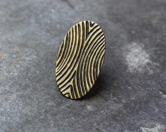 Brass Print ring