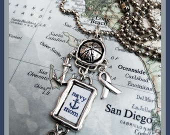 US Navy Mom necklace by Son and Sea Free US shipping