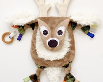 Deer Baby Blanket Lovey Toy Clip Camo Hunting Keepsake Buddy