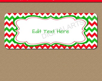 Printable Christmas Address Labels - Edit in Adobe Reader - Holiday Mailing Label Template - DIY Christmas Address Label Party Favor Labels