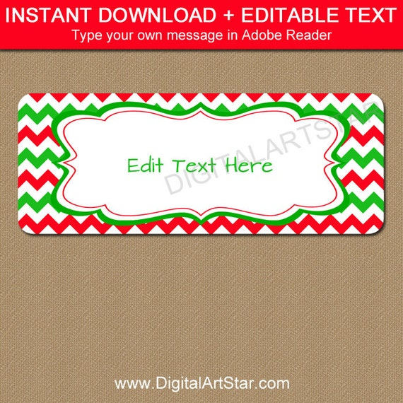 Printable Christmas Address Labels - Edit In Adobe Reader
