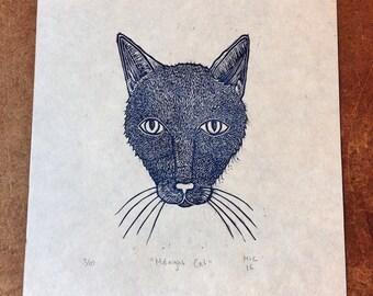 Midnight Cat Print