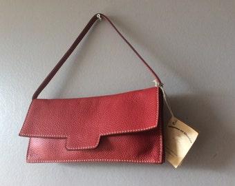 Jungle Red leather Charles et Charlus FRANCE bag