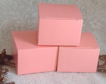 20 Posey Pink Salmon Gift Boxes 3x3x2 box